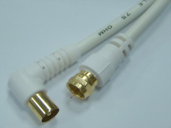 F Plug Straight - Coaxial TV Plug Right Angle
