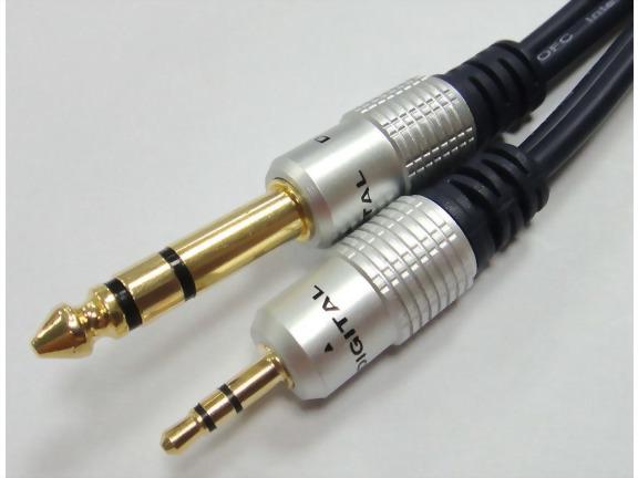 6.3mm Stereo Plug - 3.5mm Stereo Plug