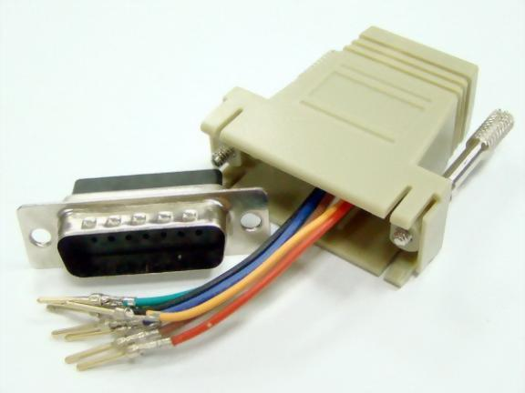 RJ45 (Jack) To DB15P Male