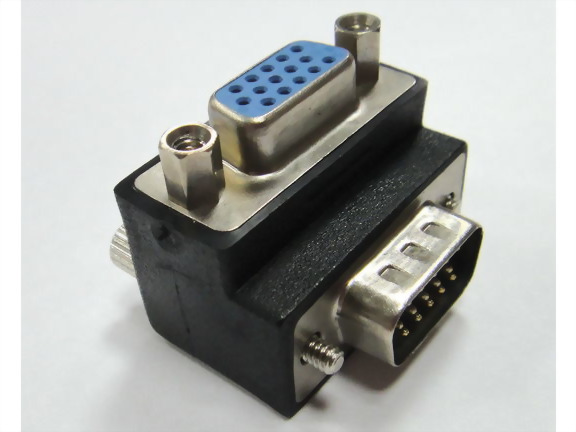 Right Angle HDDB15M To HDDB15F Adaptor
