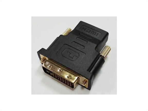 DVI Male To HDMI Female, Gold