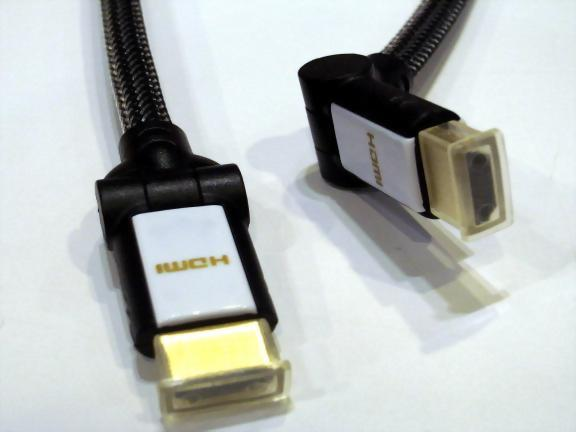 HDMI Male - HDMI Male With Nylon Mesh,180 Degree Rotatable