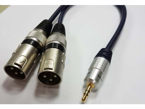 3.5mm Stereo Plug - 2*3P MIC Male