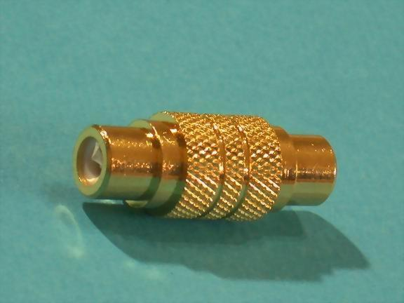RCA JACK TO JACK, GOLD PLATED
