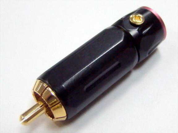 RCA Plug For 8, 9mm Cable, Black Spray Paint