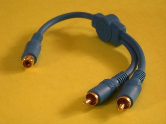 RCA JACK-2XRCA PLUGS W/STOPPER