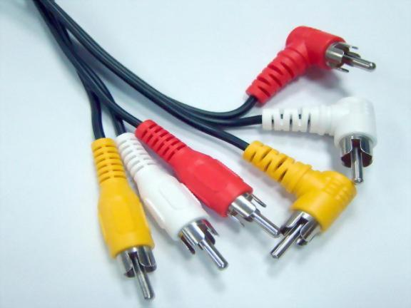 3*RCA Plugs - 3*Right Angle RCA Plugs