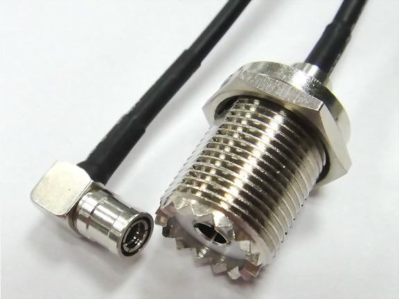 Right Angle SMB Plug To UHF Female W/N+W