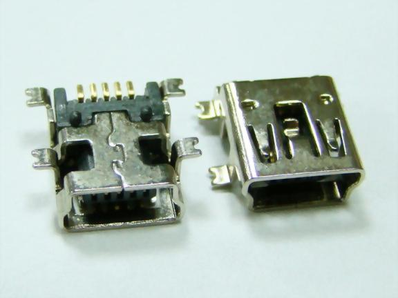 Mini USB 5P Jack, Solder