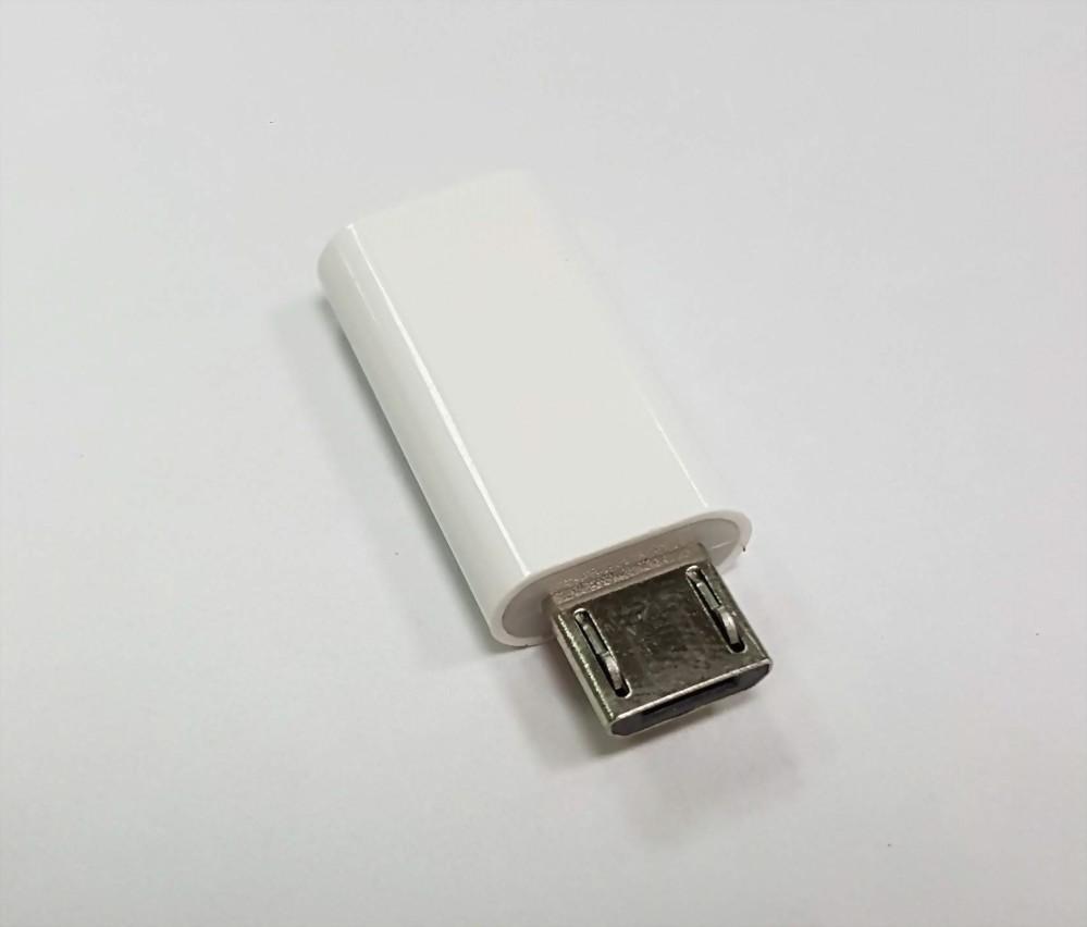 USB C Female to Micro Male Adaptor, White