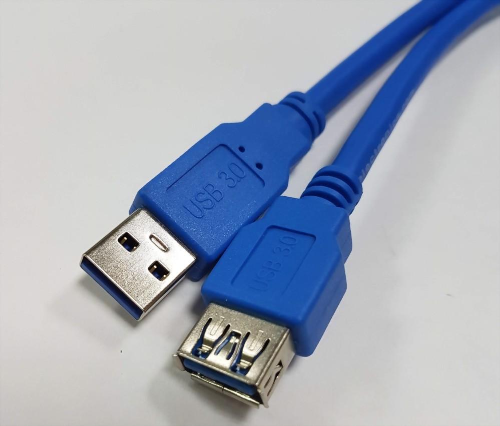 USB A Male - USB A Female, V3.0, Blue