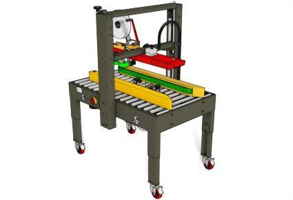 Carton Sealing Machines / Top & Bottom Seal | Uniform Carton Sizes / PW-553S