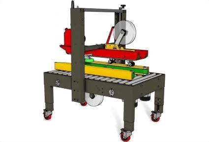 Carton Sealing Machines / Top & Bottom Seal | Uniform Carton Sizes / PW-554TS