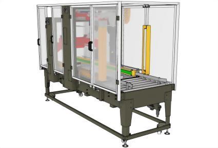 紙箱折蓋 | 上下部密封 | 隨機封箱尺寸 / PW-569SAF