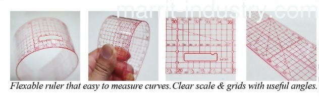 Patchwork rulers, MA-34205, MA-34305, MA-34505, MA-34605