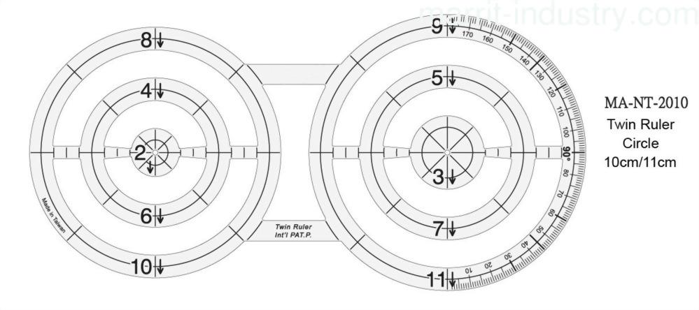 Twin Circle Templates Ruler