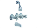 Three Handle Tub & Shower Set Faucet