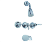 Three Handle Tub & Shower Set Faucet Series