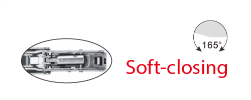 165° Soft-closing Hinge