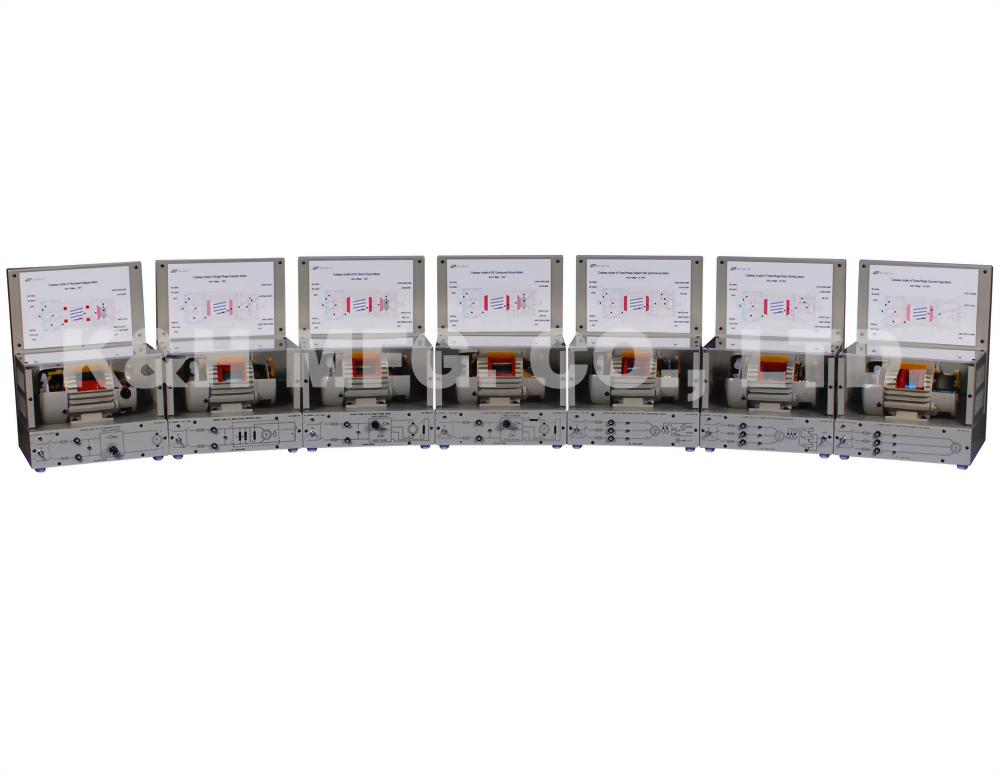 EM-3350 Máquina Eléctrica de Modelo Vista en Corte