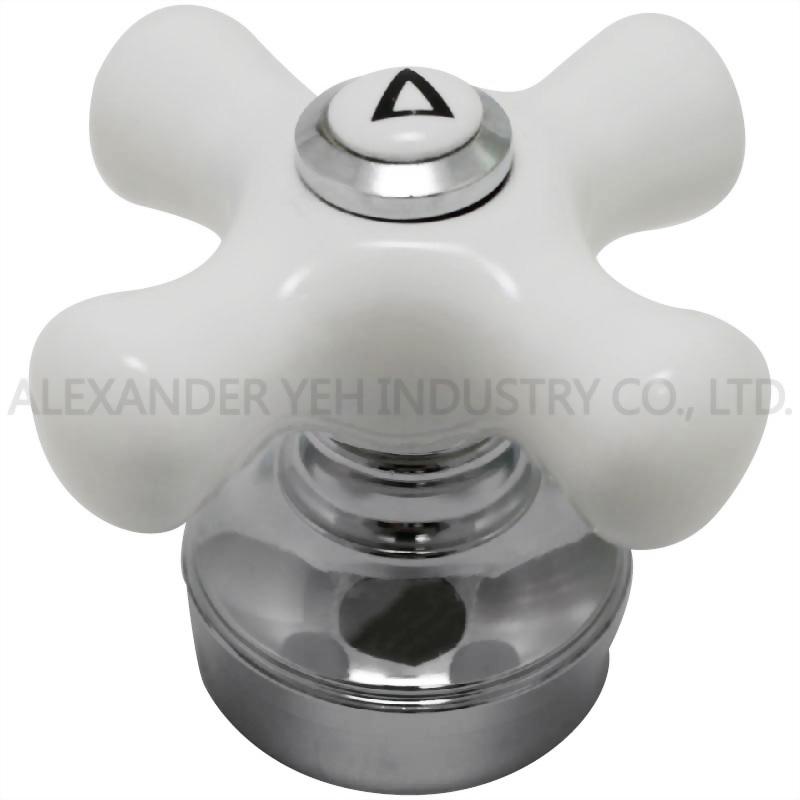 Porcelain Cross Handle- Hot or Cold or Diverter- Fit All
