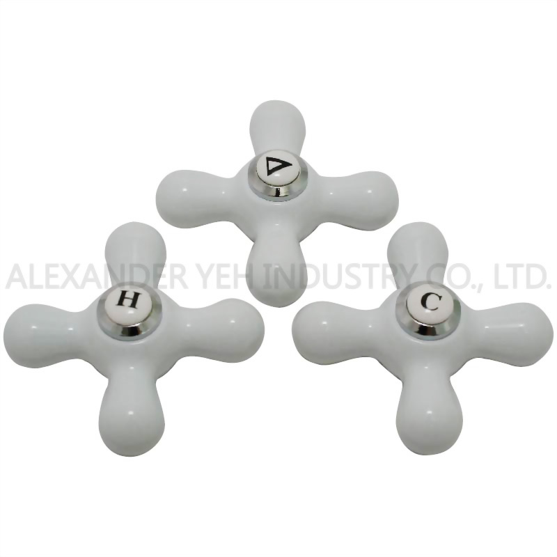 Metal Cross Handles- Hot, Cold, Diverter for Price Pfister