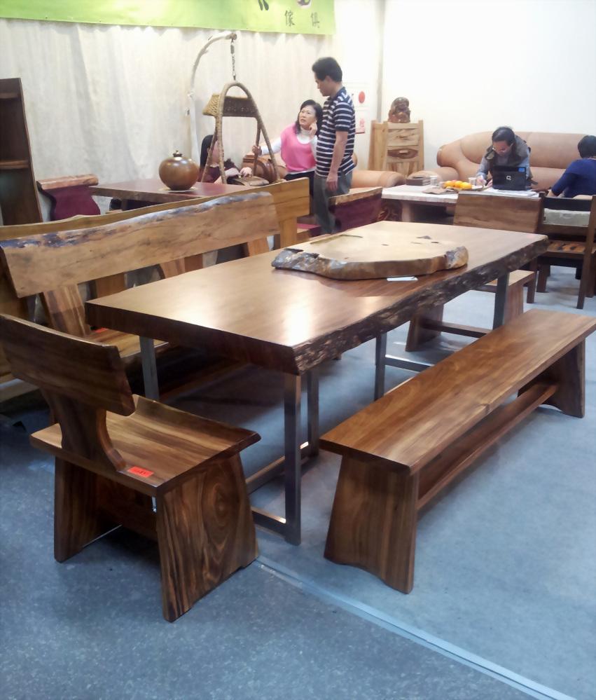 金鋼納大桌(俗稱:斑馬木)