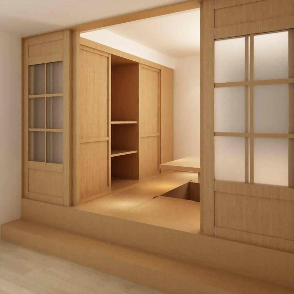美檜升降和室衣櫃組