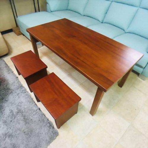 楠木大茶几 附二椅凳