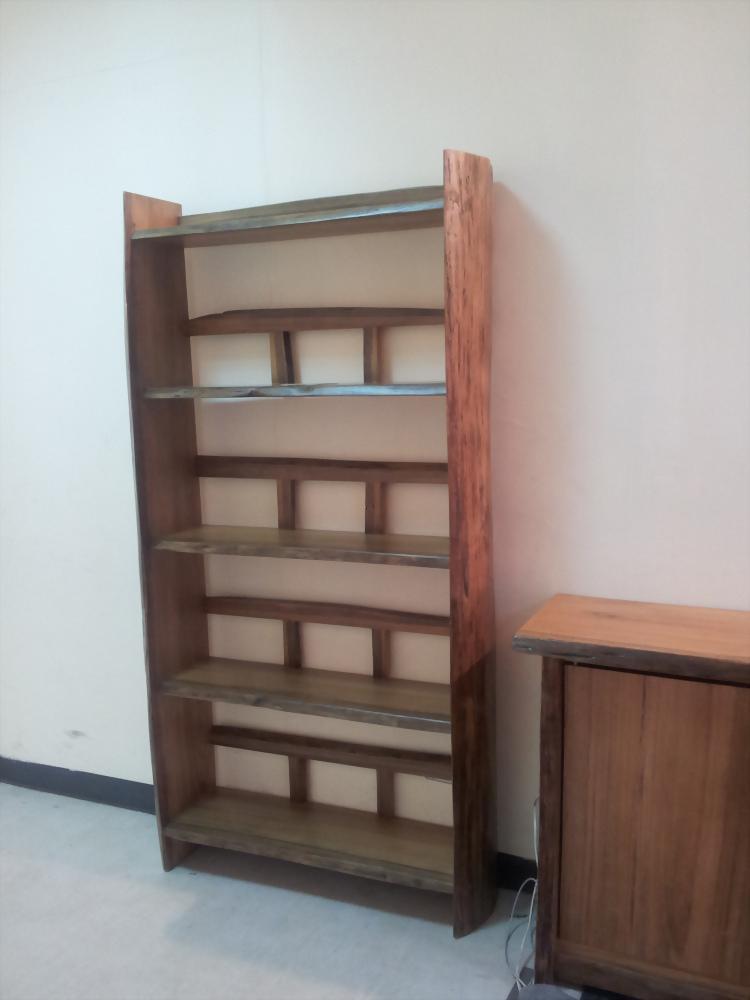 柚木四層置物櫃