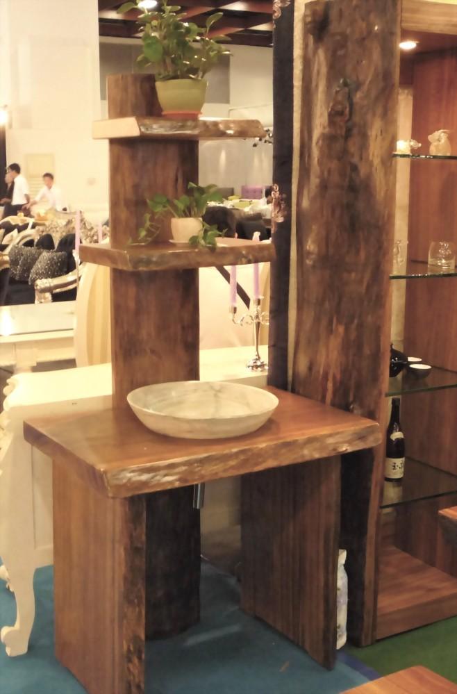 柚木造型洗手台
