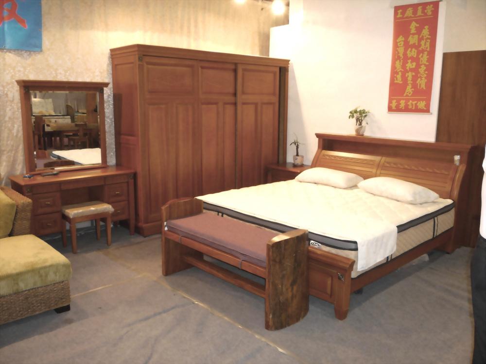 實木檜木床台組合