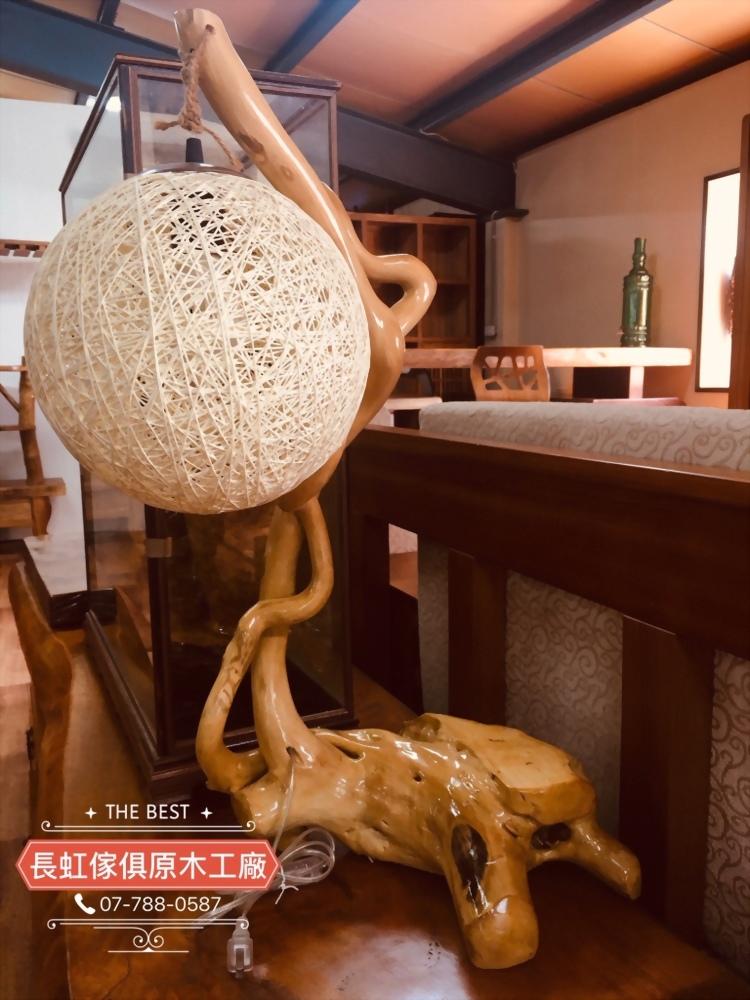 特價出清-原木桌上型燈柱