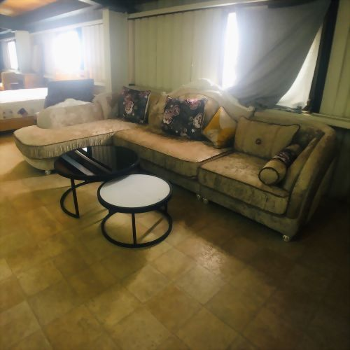 歐式L型布沙發