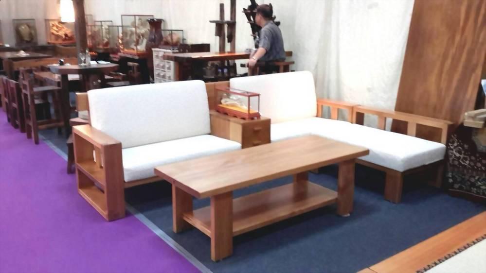 美檜 日式檜木L型沙發