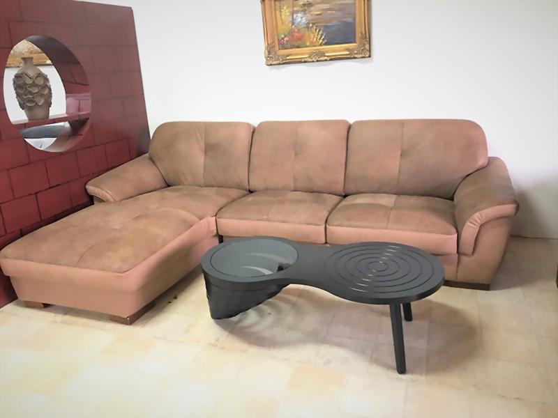 特價出清-2833 野牛真皮(磨砂皮)L型沙發