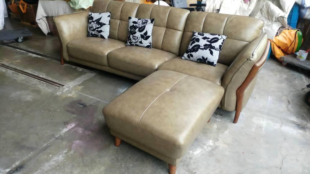 B43#乳膠皮L型沙發