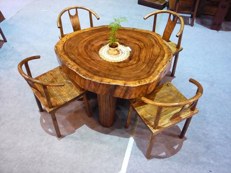金鋼納年輪泡茶桌
