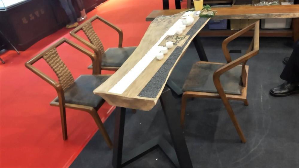 原木 自然風泡茶桌