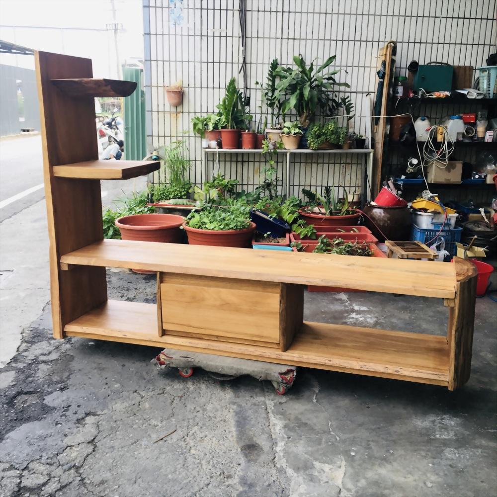 柚木電視展示櫃