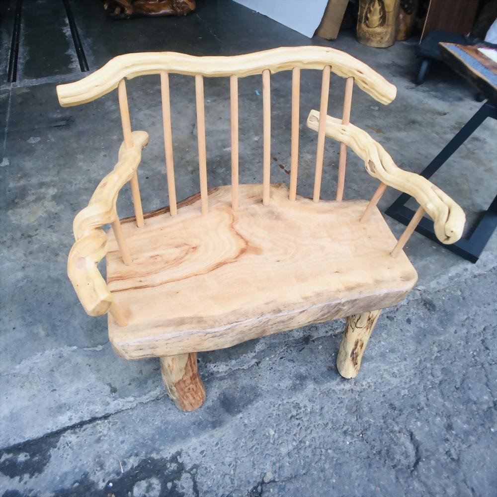 自然風原木主人椅