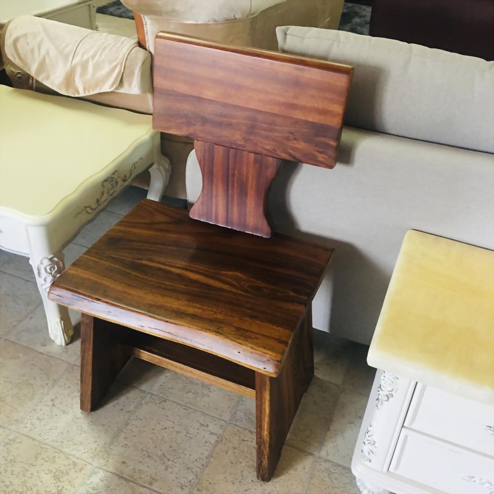 金鋼納原木單人椅
