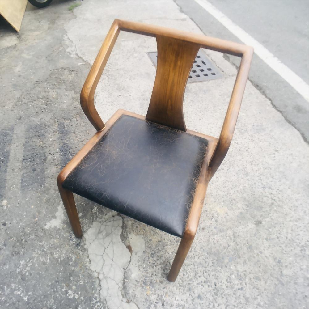 033-13-原木背單人椅
