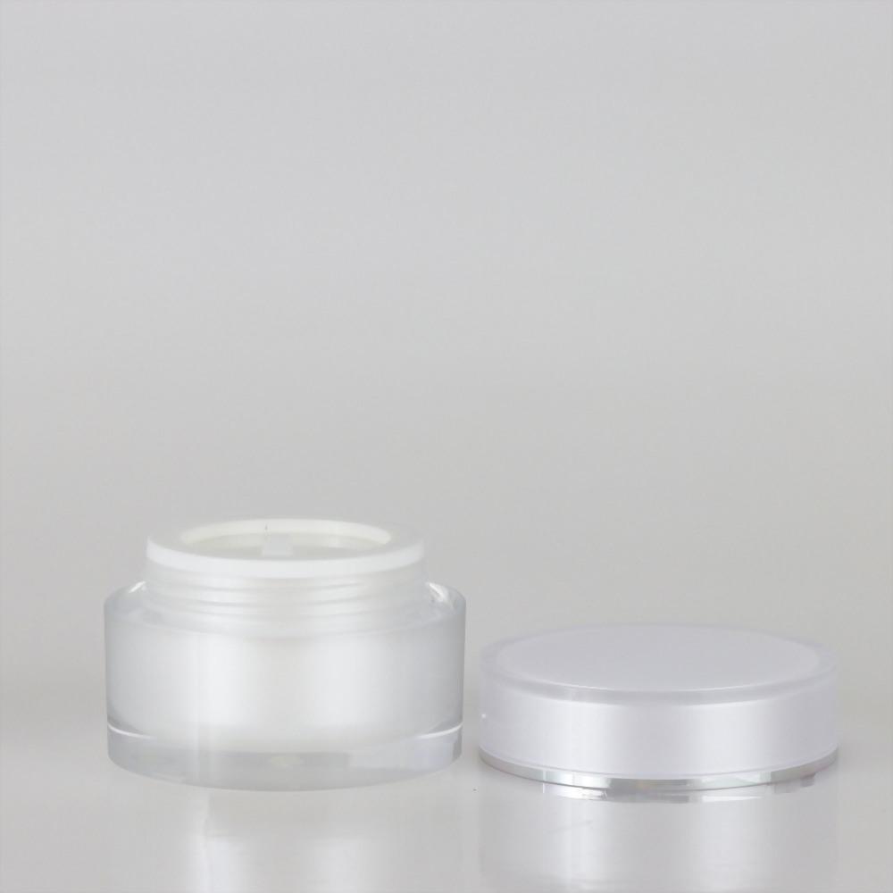 圓直柱壓克力霜瓶-30ml