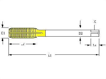NPSM,NPSF,NPSH,NPSL,NPSH,NPSI,National Pipe Parallel Thread,Roll Form Fluteless Taps,Full Carbide