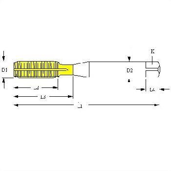 NPT NPTF PTF NGT American Pipe Taper thread Roll Form Full Carbide Taps, NPT NPTF PTF NGT 1/8-27