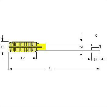 CTV TV V Tire valve thread _full carbide roll form fluteless taps