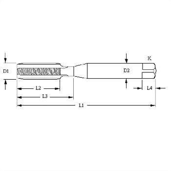 CTV, TV, V, tire valve thread full carbide pointed taps
