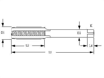 NPSM,NPSF,NPSH,NPSL,NPSH,NPSI,Pipe Thread,Roll Form Fluteless Taps,Cobalt HSS