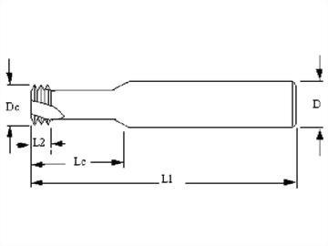 Thread Mills,3teeth,M,Metric Thread spiral flutes mills